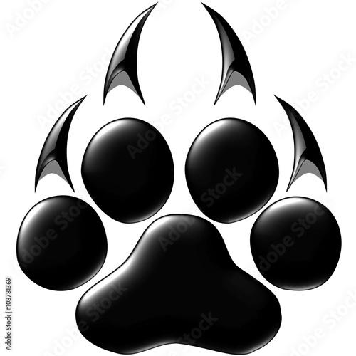 Fototapeta premium Footprints of a big cat. Panther or tiger traces. Vector ESP10