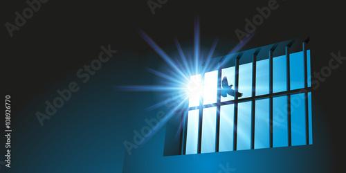 Canvas Print Prison - Liberté