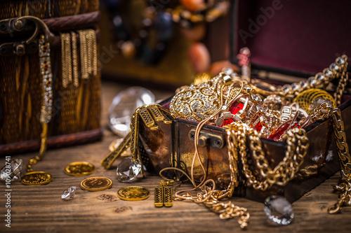 Fotografie, Obraz Pirate treasure chest