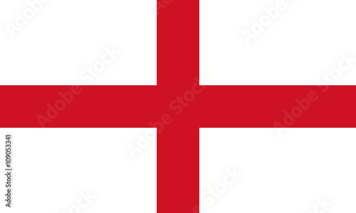 Photographie England Flag,  English flag, Flag of England standard proportion in color mode R