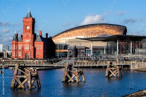 Wallpaper Mural Pierhead and Millenium Centre buildings Cardiff Bay
