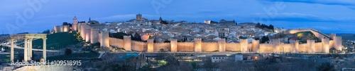 Avilla - The panorama of the city at dusk