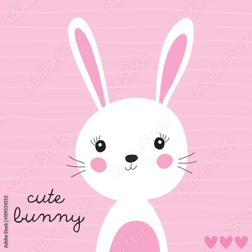 Fototapeta premium ilustracja wektorowa ładny króliczek