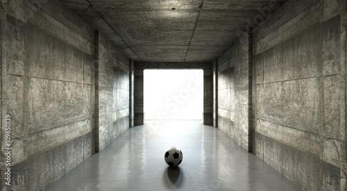 Soccer Ball Sports Stadium Tunnel