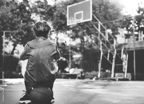 Photo Basketball Player Athlete Exercise Sport Stadium Concept