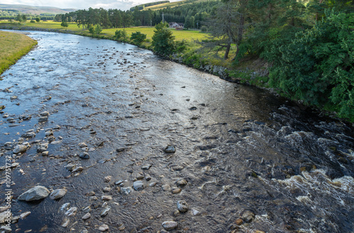 Tablou Canvas View from the Findhorn Bridge at Tomatin