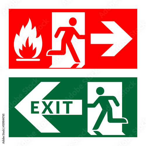 Slika na platnu Exit sign