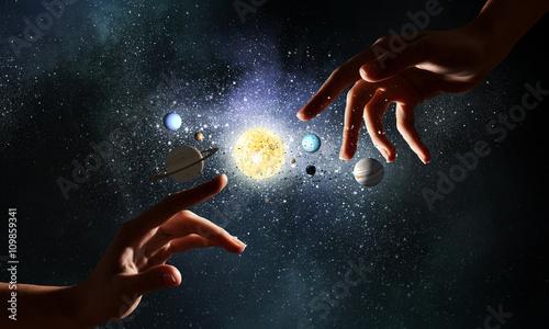 Fotografiet Idea of creation and genesis