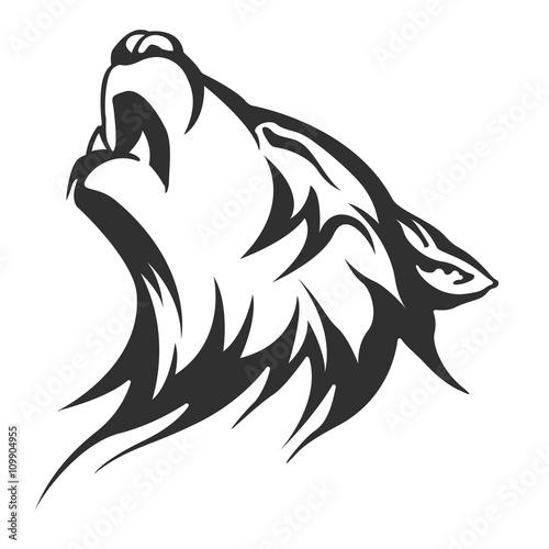 wzory plemiennych tatuaży wilka
