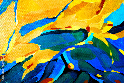 abstract decorative painting for interior, illustration