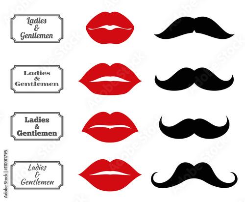 Photo Ladies and gentlemen bathroom symbols