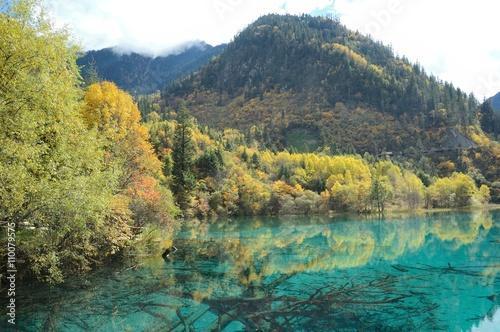 Jiuzhaigou National Park in Autumn