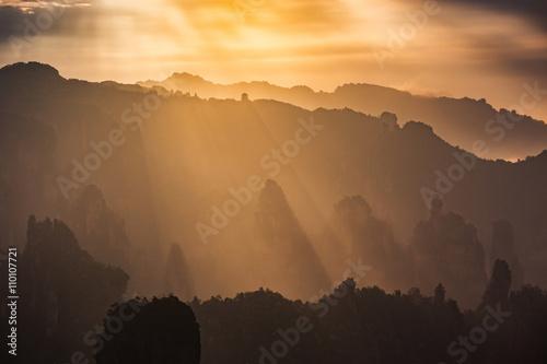 Obraz na plátně Avatar mountains of Zhangjiajie - China