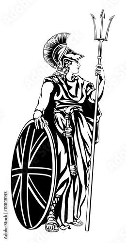 Wallpaper Mural Illustration of Britannia