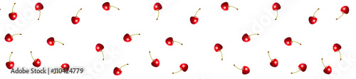 Tableau sur Toile cover  header pattern cherry berries red