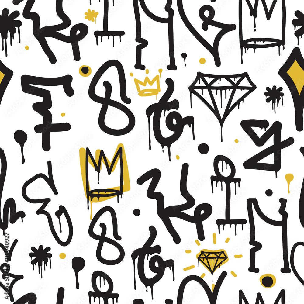Graffiti tło wzór <span>plik: #110940927   autor: vanzyst</span>