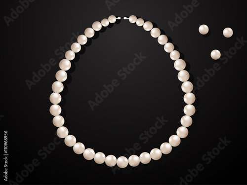 Photo Illustration of pearl necklace