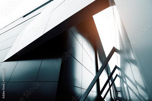 Fototapeta commercial building skyscraper made of glass