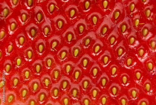 Macro photo of strawberry texture