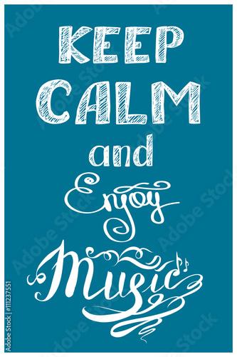 Canvas Print keep calm and music