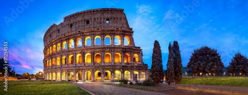 Fotografija Kolosseum in Rom Panorama bei Nacht