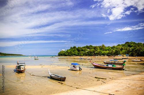Photo Rawai beach at low tide, Phuket, Thailand