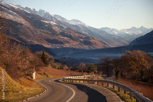 Obraz na płótnie Views of Sierre and the Alps from Crans-Montana, Switzerland