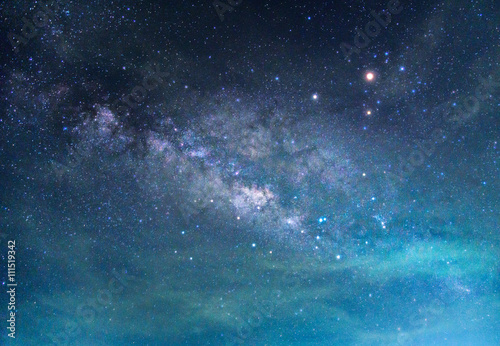 Fotografie, Obraz Detail of Milky Way Galaxy ,Long exposure photograph.