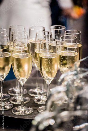 Obraz na plátně Skleničky na šampaňské