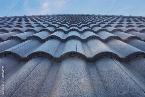 Fotografia tile roof with blue sky