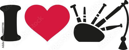 Fotografija I love Bagpipe icon