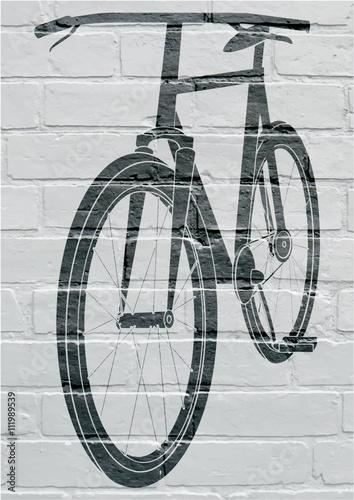 Art urbain, bicyclette. Fototapet