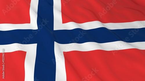 Photo Norwegian Flag HD Background - Flag of Norway 3D Illustration