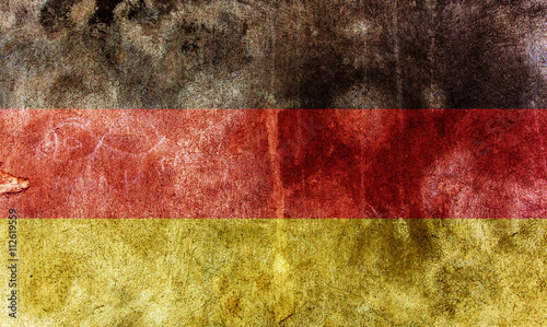 Photo closeup of grunge german flag