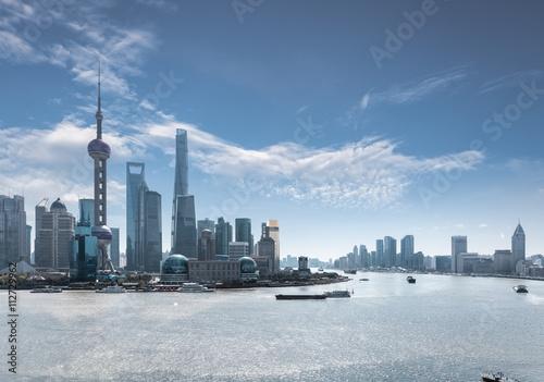 Canvas Print shanghai skyline in daytime
