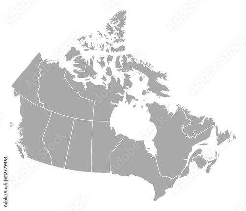 Mapa - Kanada