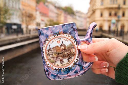 Fotografia Souvenir, Karlovy Vary (Carlsbad), west Bohemia, Czech Republic