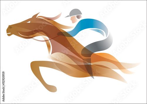 Fotografie, Tablou Jockey on the horse
