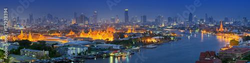 Canvas Print Panorama view of bangkok