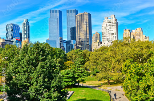 View of Central Park in a sunny day in New York City. Poster Mural XXL