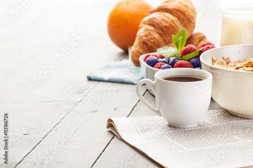 Healthy breakfast Fotobehang