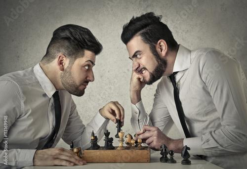 Obraz na plátně Hrát šachy