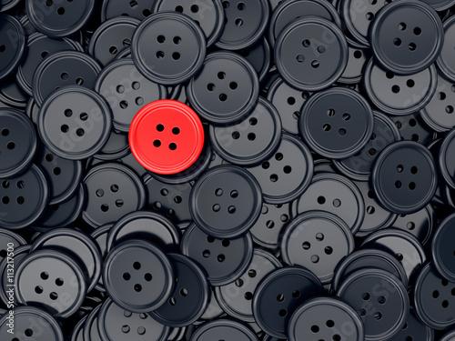 Obraz na płótnie Unique red sewing button