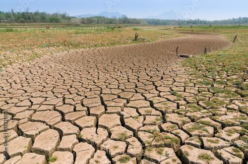 Wallpaper Mural Global warming, Drought.