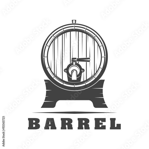 Canvas-taulu Wooden barrel signs
