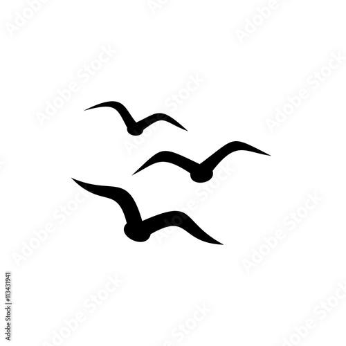 Fototapeta premium Proste ikona ptaków