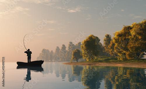 Canvas Print The  fisherman