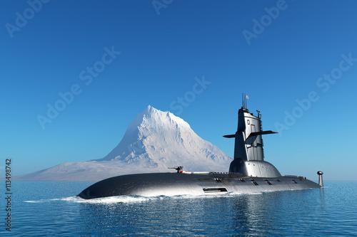 Canvas Print The military ship
