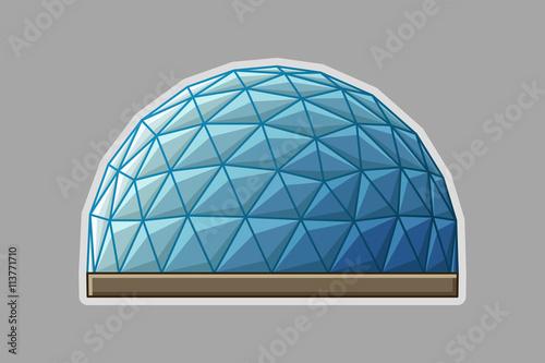 Valokuva Icon geodesic dome flat