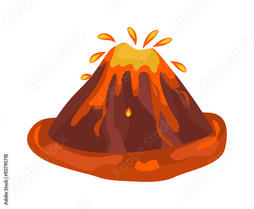 Canvas Print Eruption vector illustration.
